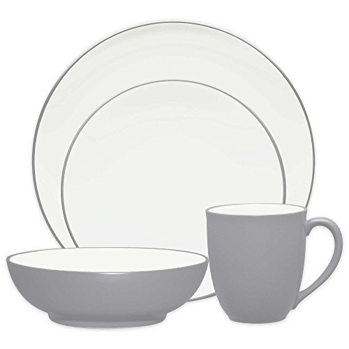 Noritake Colorwave Coupe 4-Piece Place Setting in Slate