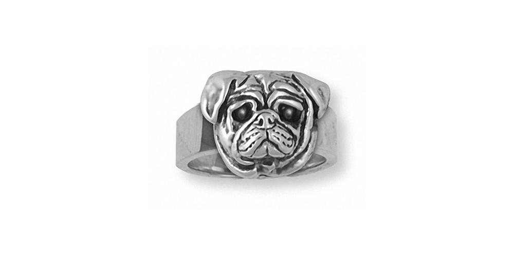 Pug-Jewelry-Sterling-Silver-Pug-Ring-Handmade-Dog-Jewelry-DG6-R