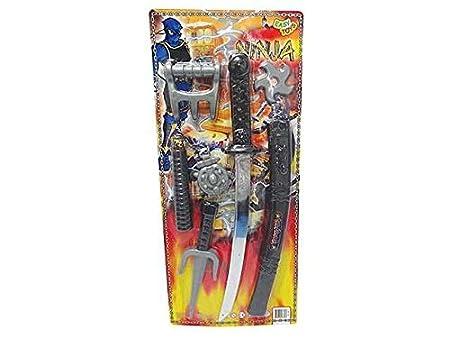 Juego Ninja Samurai Espada Katana Nunchakus Juegos Juguete ...