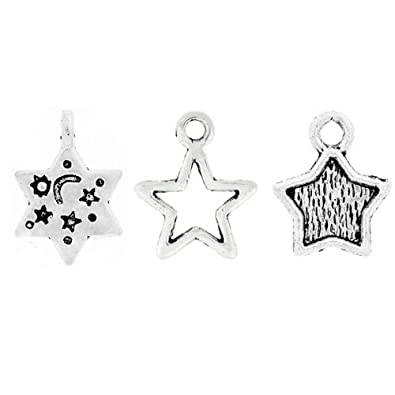 100pcs mixed antique tibet tibetan silver wholesale star charms 100pcs mixed antique tibet tibetan silver wholesale star charms pendant findings 15 35mm u mozeypictures Image collections