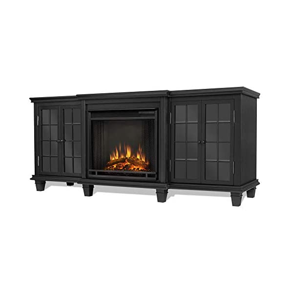 Real Flame Marlowe Fireplace TV Stand in Black