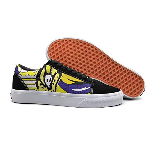 Happyness Tennis Shoes for Men Rolling-Stones-Voodoo-Lounge- Wear-Resistant Run Shoes
