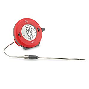 ThermoWorks DOT Professional Probe Style Alarm Thermometer with Pro-Series High Temp probe (Red)
