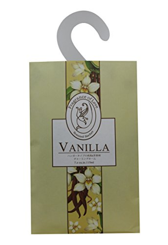 Feel Fragrance Vanilla Scented Sachet with Hanger for Closet, Pack of 3(Vanilla) by Feel Fragrance