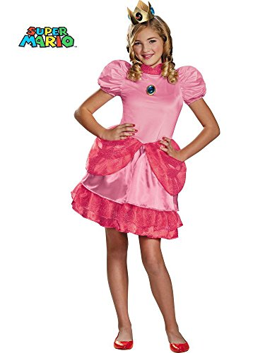 Nintendo Super Mario Brothers Princess Peach Tween Costume, -