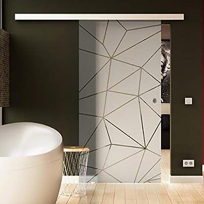 Levidor® - Puerta corredera de cristal transparente con sistema EasySlide: Amazon.es: Bricolaje y herramientas