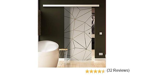 Levidor® - Puerta corredera de cristal transparente con sistema ...