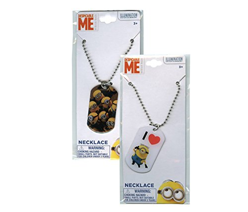 Minions Dressing Up Costumes (2 Despicable Me Minions 18-inch Dog Tag Necklace (2 Different Designs))