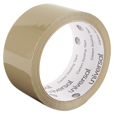 Box Sealing Tape, 2'''' x 55yds, 3'''' Core, Tan, 6/Pack, Sold as 6 Roll
