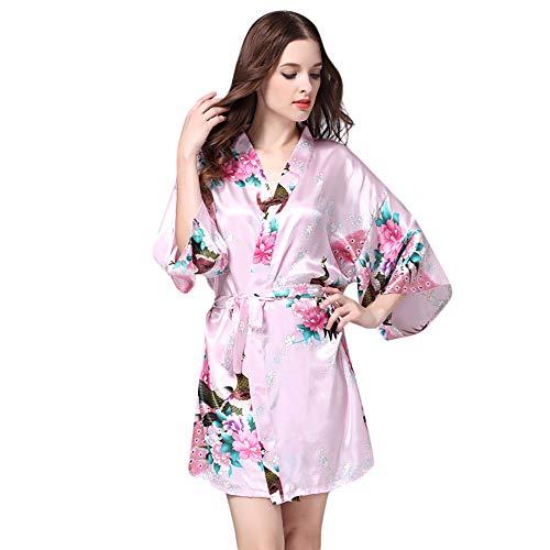 Women Printed Sleepwear Half Sleeve Nightwear Satin Top Pajama -