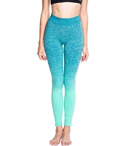 OVESPORT Ombre Workout Leggings Power Flex High Waist Active Yoga Running Pants for ()