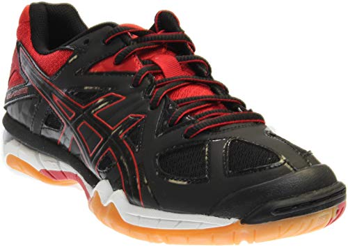 ASICS Women's Gel Tactic Volleyball Shoe, Black/Black/Fiery Red, 6.5 M US