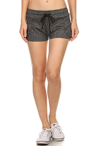 roua-casual-terry-knit-hot-mini-sweat-jogger-shorts-for-women-charcoal-m