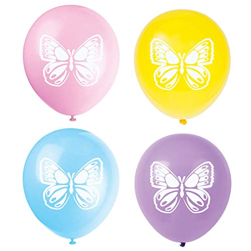Butterfly Latex Balloons, 16-Pack 12inch Butterfly Baby Shower Or Birthday Party Balloon, Decorations, Party Supplies]()