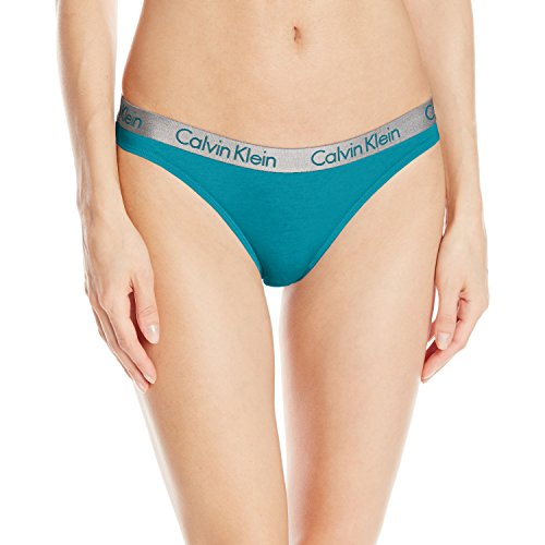 - Calvin Klein Women's Radiant Cotton Thong Panty, Mesmerize, Large
