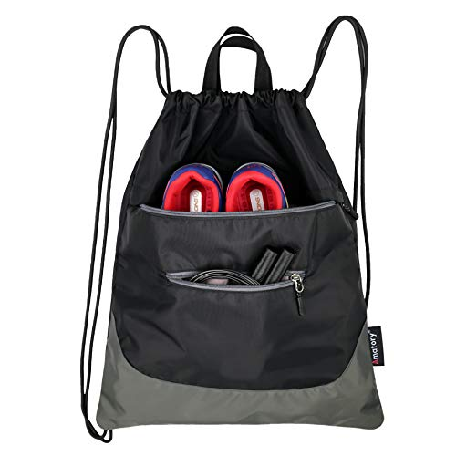 Drawstring Backpack String Bag Gym Sack Sackpack Draw Swimming Athletic Sports