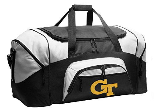 Georgia Tech Gym Bag - Large Georgia Tech Duffel Bag Yellow Jackets Suitcase or Gym Bag for Men Or Her