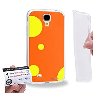 Case88 [Samsung Galaxy S4] Gel TPU Carcasa/Funda & Tarjeta de garantía - Art Fashion Orange Ladybug 1063