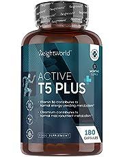 Active T5 Plus afslankpillen - Natuurlijke fat burner - Met cafeïne om de stofwisseling te stimuleren - 60 Krachtige Vetverbranders
