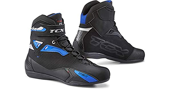 TCX Rush Botas de Moto Talla 40 Color Negro y Azul