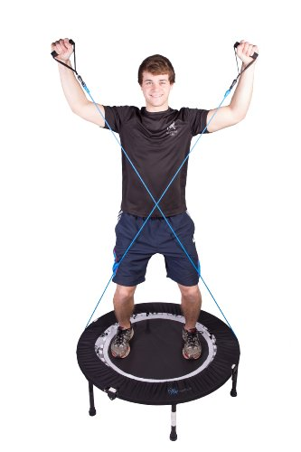 MaXimus Pro Quarter Folding Mini Trampoline Includes DVD Bar Bag Bands Weights by MXL MaXimus Life (Image #1)