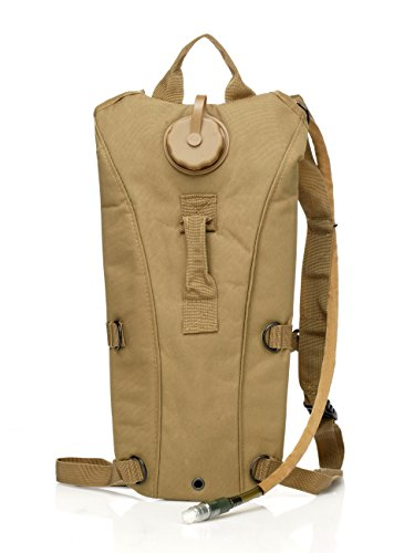 US Army 3L 3 Liter (100 ounce) Hydration Pack Bladder Water Bag Pouch Backpack Hiking Climbing Survival Outdoor (Desert Tan) (100 Camo Oz Desert)