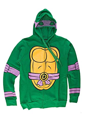 (I Am Donatello Teenage Mutant Ninja Turtles Zip Zip Up Hoodie Small)