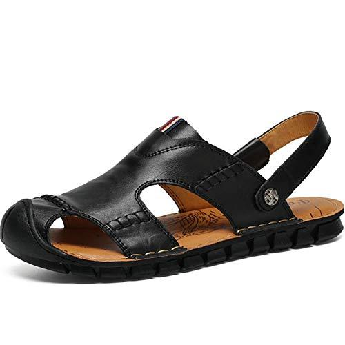 Para Hombres Resistentes Caminar Piel De Verano La Zapatilla Abrasi Sandalias De Vaca Cerrada A Zapatos agpwaqZ