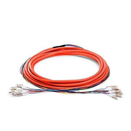 12繊維LCマルチモード50 /125 12コアBunch光ファイバーパッチケーブル 100m 12 Fibers LC 50/125 Multimode B07F4J4LT8 branch cable:0.9mm 100m