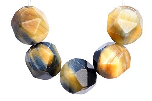 Tiger Eye Star - 23 Pcs - 7-8MM Golden Blue Tiger Eye Beads Star Cut Faceted Grade AAA Genuine Natural Gemstone Loose Beads