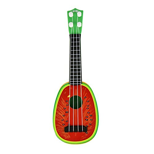 Fruit Guitar, OBOSOE Creative Kid's Fruits Style Simulation Guitar 4 string Music Toys for Children Guitar Musical Instruments Toys (Watermelon)