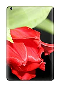 Red Flower In Black Case Compatible With Ipad Mini 3/ Hot Protection Case 5120079K39158882