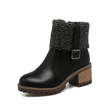 Winter Pu Zipper Round 4u Career Women's Chunky Di 4u Beige Donna Comfort Shoes Bianco Migliore Fall Nero Nero Black Beige Boots Carriera Stivali All'aperto Best La E amp; Per L'ufficio Black Outdoor Punta Cerniera Office For Scarpe Fibbia Rotondo Heel White Tacco Buckle Grosso Pu Da Autunno Inverno Toe Comfort 0f7qwnZ