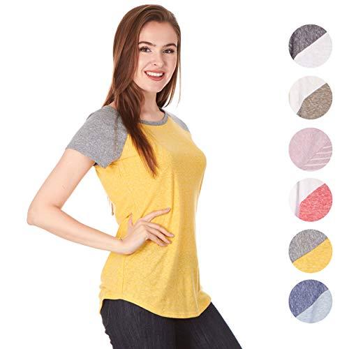 Tone Raglan T-shirt (X America Women Raglan Frost Jersey Triblend Cap Sleeve Junior and Plus Sizes Baseball Tee, Made in USA … )