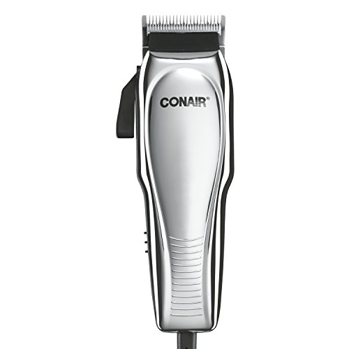Conair Custom Cut 21-piece Haircut Kit; Home Hair Cutting Kit; Chrome