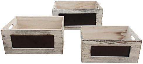 ArcoEventos 5A1657 Cajas de Madera con Pizarra (paquete de 3 piezas) : Amazon.es: Hogar