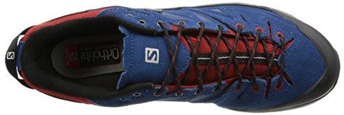 Salomon L37926700, Zapatillas de Senderismo para Hombre Azul (Midnight Blue /     Flea /     Aluminium)