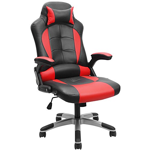 41KDwrWqTCL - Furmax Gaming Chair Executive Racing Style Bucket Seat PU Leather Office Chair Computer Swivel Lumbar Support Chair