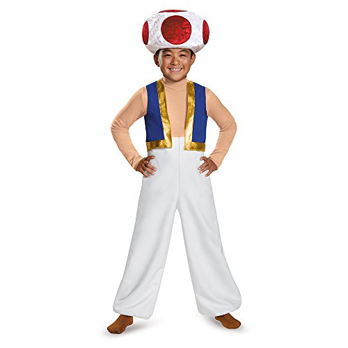 Toad Deluxe Costume, Medium (Character Costumes For Kids)