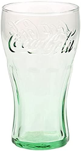 New Free Shipping 16 oz Lots OF Genuine Coca-Cola Green Glass Contour Glasses