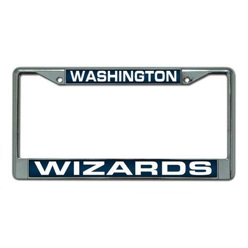 Rico Industries NBA Washington Wizards Laser Cut Inlaid Standard Chrome License Plate Frame