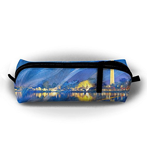 Acrylic Waves Of Washington Canvas Pencil Bag Holder Pen Case Stationery Makeup Cosmetic Pouch Bag With - Shopping Washington Square