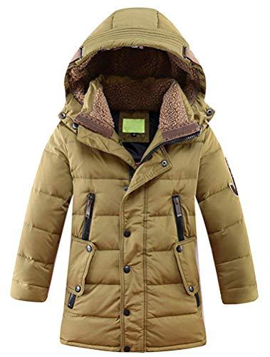Giubbotto A Cappuccio Con Fuxitoggo 150 12 Dimensione Per Cachi Lunghe Height colore Maniche 160cm Invernale Yearsfor Bambini UqXddS
