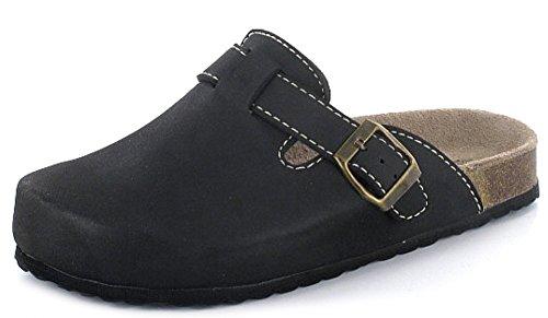 Softwaves 276-002 Mujer Zapatillas De Estar Por Casa Zuecos clásico negro