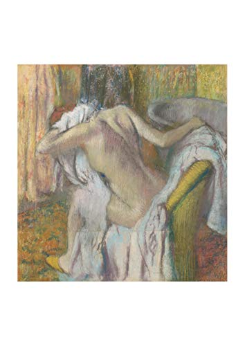 Spiffing Prints Edgar Degas - After The Bath Woman Drying Herself - Large - Archival Matte - Framed