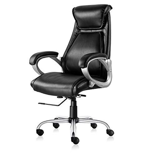 ive Office Chair High Back Desk Task Chair Ergonomic Computer Chair with Tilt and Lock Mechanism (Black) ()
