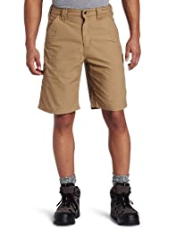 Carhartt Men\'s Canvas Work Short B147,Dark Khaki,34