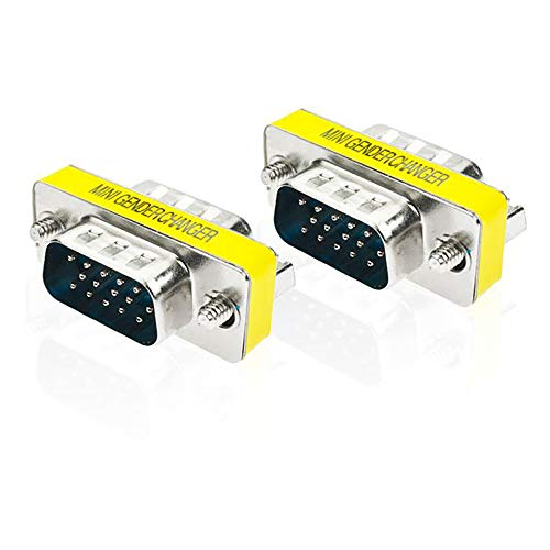 Euone  Valentine Clearance Sale , 15 Pin VGA SVGA HD15 Gender Changer Coupler Adapter Converter Male to Male