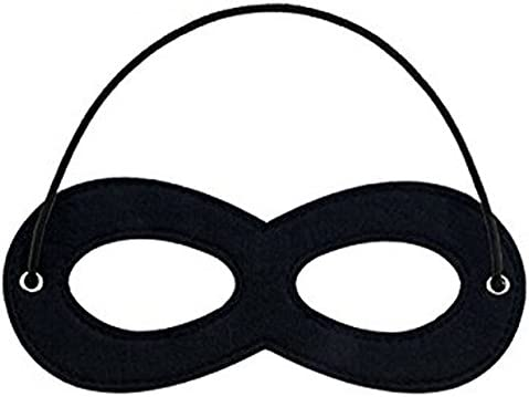 1 Piece Black Superhero Felt Eye Masks, Adjustable Elastic Rope Half Masks - Great for Party Cosplay Accessory
