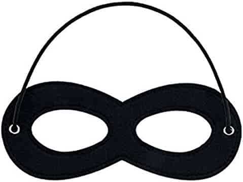 CANSHOW 1 Piece Superhero Felt Eye Masks, Adjustable Elastic Rope Half Masks - Great for Party Cosplay Accessory